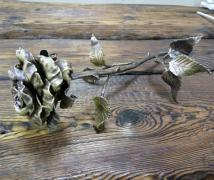Кованая роза ручной худождественной ковки